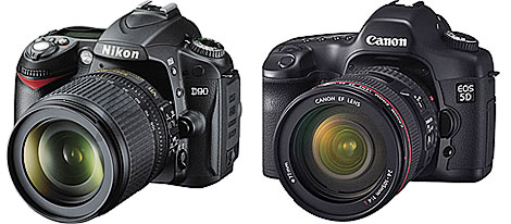 Nikon and Canon HD DSLR