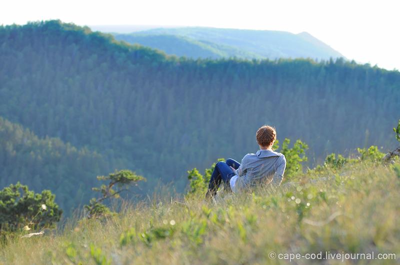 девушка горе Стрельная Жигулевских гор